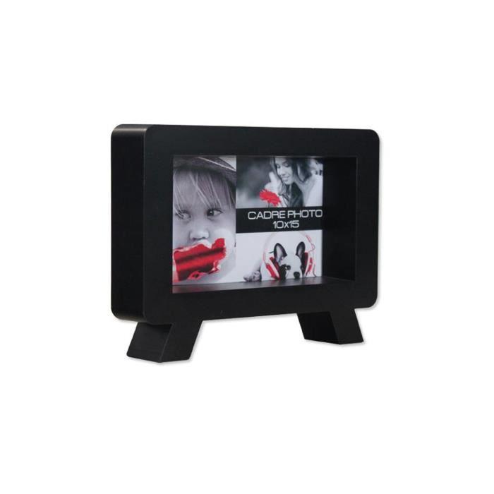 cadre photo 3d tv horizontal noir achat vente cadre photo pvc cdiscount. Black Bedroom Furniture Sets. Home Design Ideas