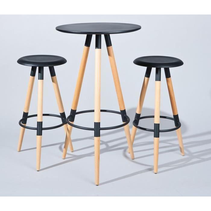 Ensemble table de bar bistro 2 tabourets mow achat vente ta - Ensemble table bar et tabouret ...