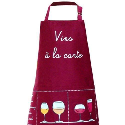 Tablier de cuisine bordeaux vins la carte achat for Cuisine a la carte
