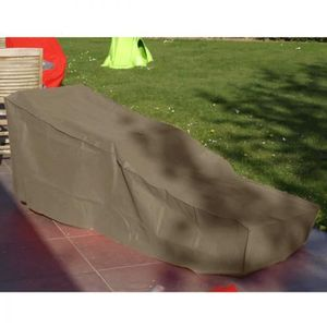 Chaise longue taupe achat vente chaise longue taupe for Housse de chaise taupe