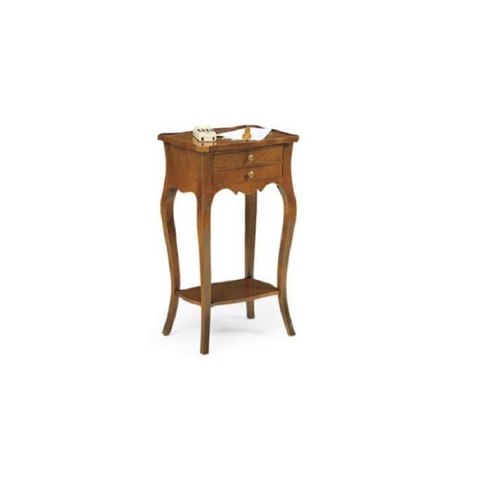 Table de chevet polyvalent style classique en bois for Table de chevet classique