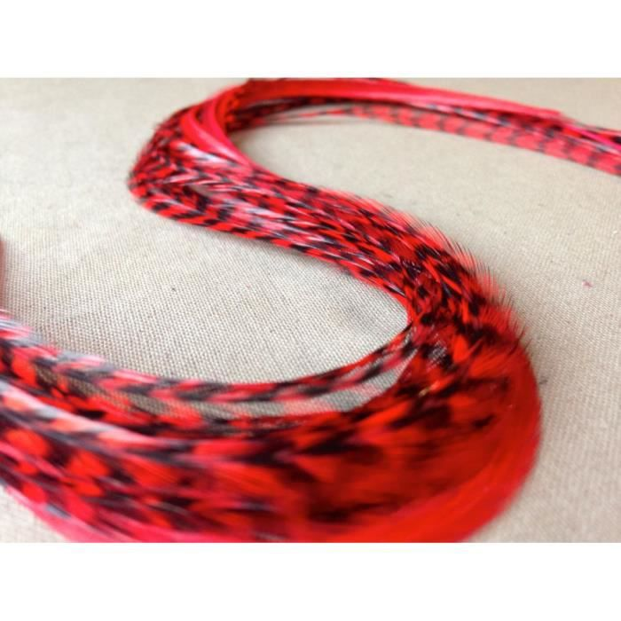extension de plume pour cheveux 25 30cm une rouge achat vente m che extensions extension de. Black Bedroom Furniture Sets. Home Design Ideas