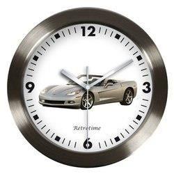 pendule corvette grise achat vente horloge aluminium