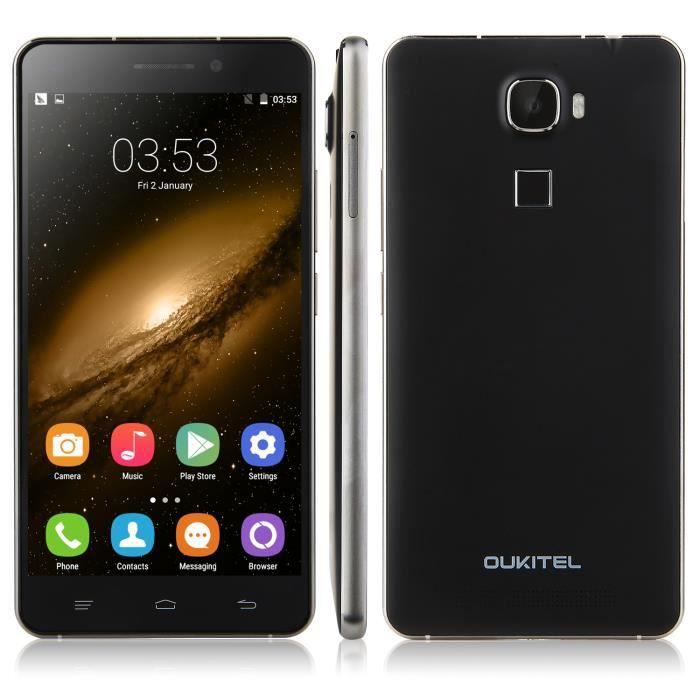 oukitel u8 4g smartphone 5 5 pouces mtk6735m quad core android 5 1 2go 16go noir smartphone. Black Bedroom Furniture Sets. Home Design Ideas