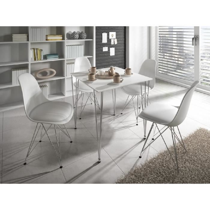Table manger design carena blanc achat vente table a for Petite table a manger