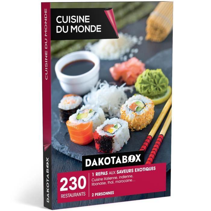 coffret cadeau - cuisine du monde - 230 restaurants : cuisine ... - Box Cadeau Cuisine