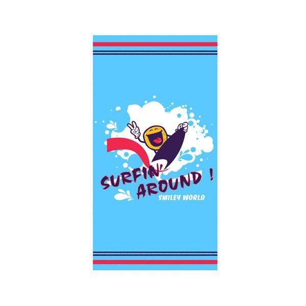 drap de plage smiley bleu surf achat vente drap de plage smiley bleu surf cdiscount. Black Bedroom Furniture Sets. Home Design Ideas