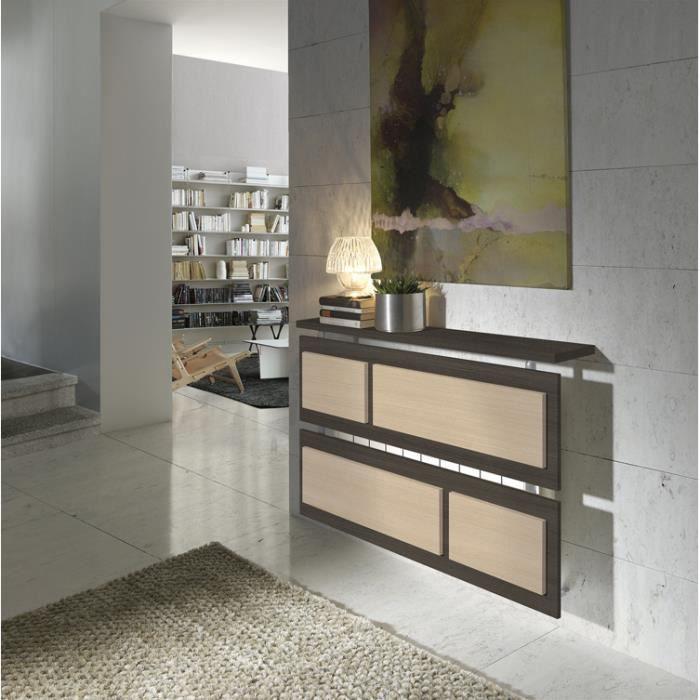 cache radiateur 90 coloris ch ne fonc ch ne clair l90 x h710 x p195 cm achat vente objet. Black Bedroom Furniture Sets. Home Design Ideas