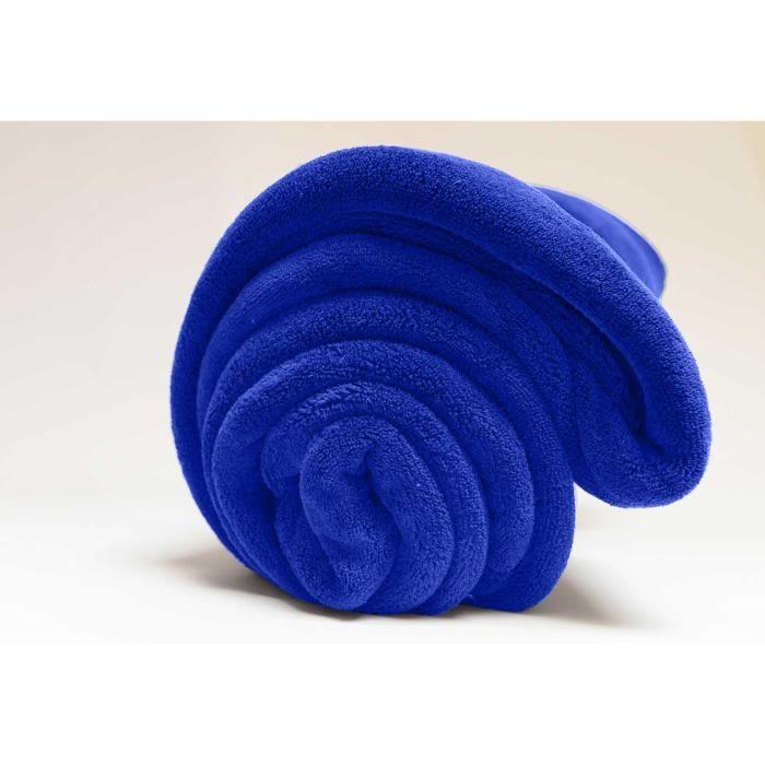 couverture polaire microfibre turquoise 220x240cm achat vente couverture plaid cdiscount. Black Bedroom Furniture Sets. Home Design Ideas