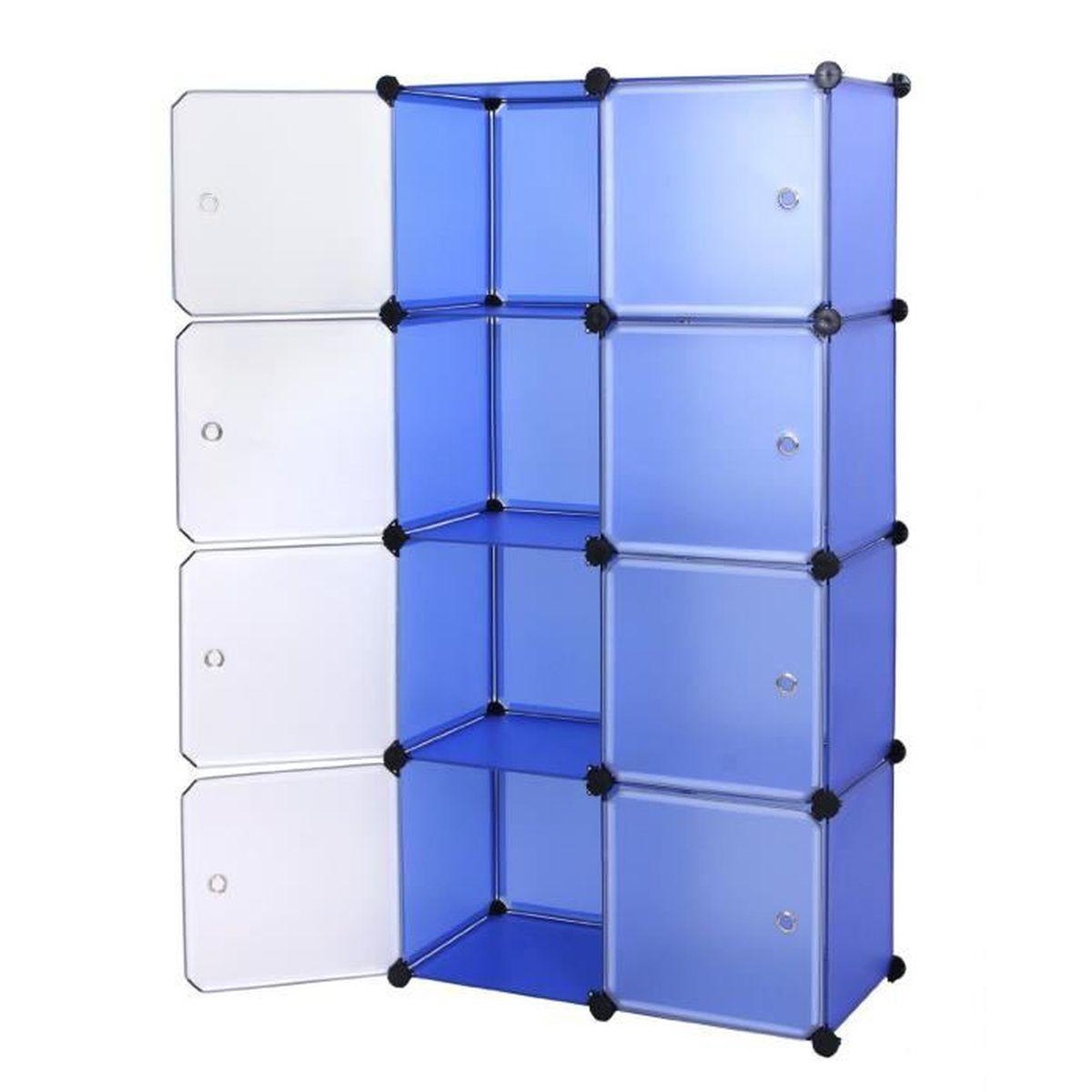 Diy armoire penderie cubes etag re modulables plastiques - Etageres modulables en metal ...