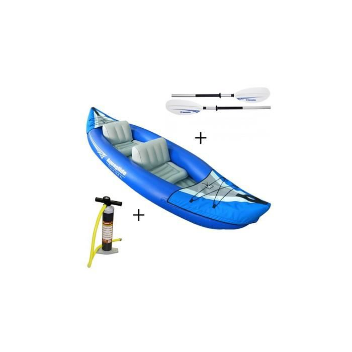 Pack kayak gonflable yakima 2places pagaie gonfleur manuel aquaglide ch - Canoe gonflable 4 places ...