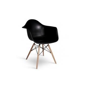 Chaise daw charles eames bakelite mat noir achat for Achat chaise eames