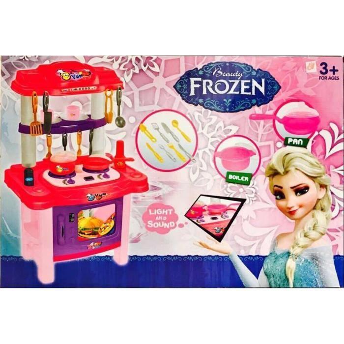 frozen mon mini cuisine jouet lumi res et musique 3 ans avec 19 pieces achat vente dinette. Black Bedroom Furniture Sets. Home Design Ideas