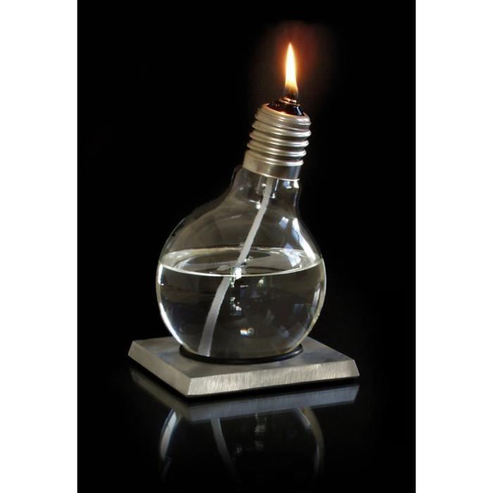Lampe ampoule huile konfuzilux 12 x 12 x 18 cm achat - Meche lampe huile ...