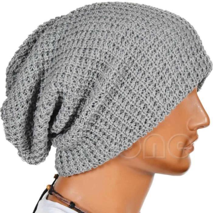 bonnet gris oversize tendance hiver 2015 achat vente bonnet cagoule 2009951239444 cdiscount. Black Bedroom Furniture Sets. Home Design Ideas