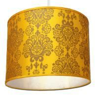 petit abat jour suspension baroque jaune achat vente petit abat jour suspension cdiscount. Black Bedroom Furniture Sets. Home Design Ideas