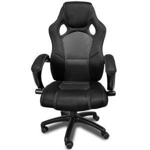 fauteuil de bureau noir baquet achat vente fauteuil noir cdiscount. Black Bedroom Furniture Sets. Home Design Ideas