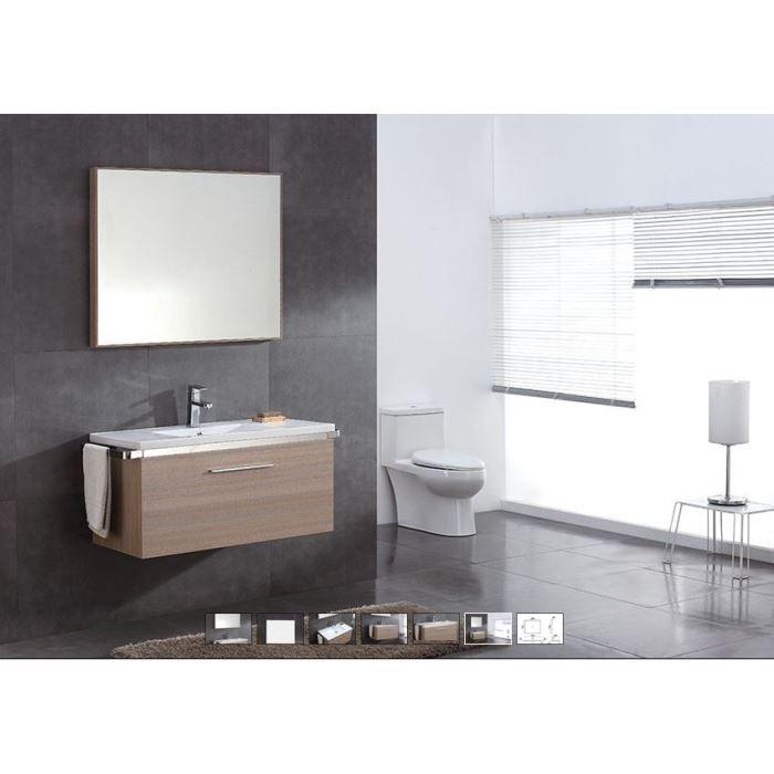 meuble de salle de bain papeete coloris sable c ru achat. Black Bedroom Furniture Sets. Home Design Ideas