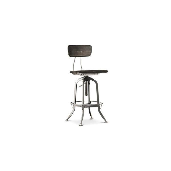 Chaise vintage design industriel acier achat vente chaise marron sold - Chaise acier industriel ...