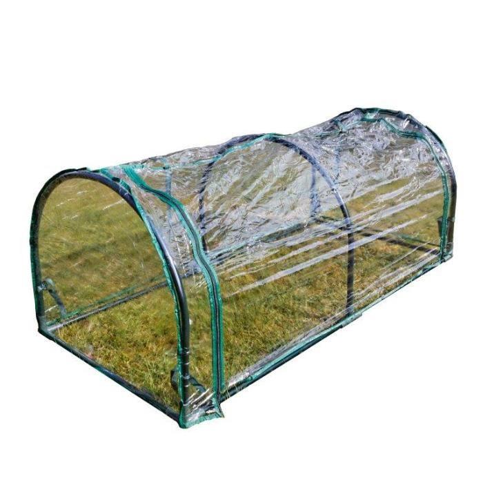 serre de jardin tunnel transparente 130x50x60cm achat vente serre de jardinage serre tunnel. Black Bedroom Furniture Sets. Home Design Ideas