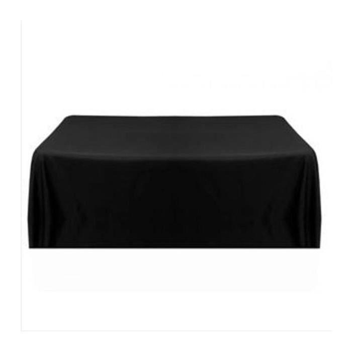 57 39 39 nappe table noeud chaise satin carr pour mariage noir for Nappe de table carre