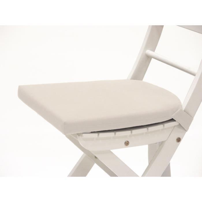 Coussin de chaise galette de chaise 1java ivoire - Galette de chaise blanc ...