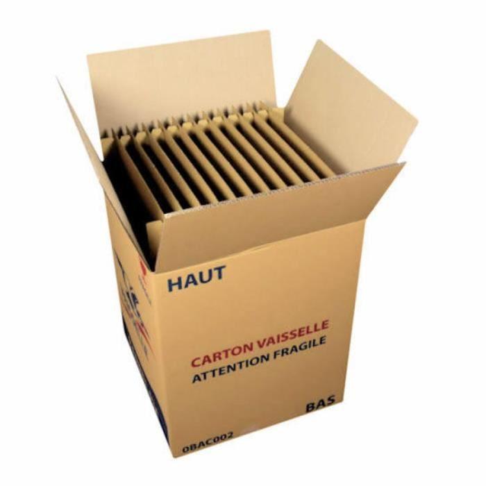 carton d m nagement vaisselle 24 assiettes achat vente caisse demenagement les soldes sur. Black Bedroom Furniture Sets. Home Design Ideas