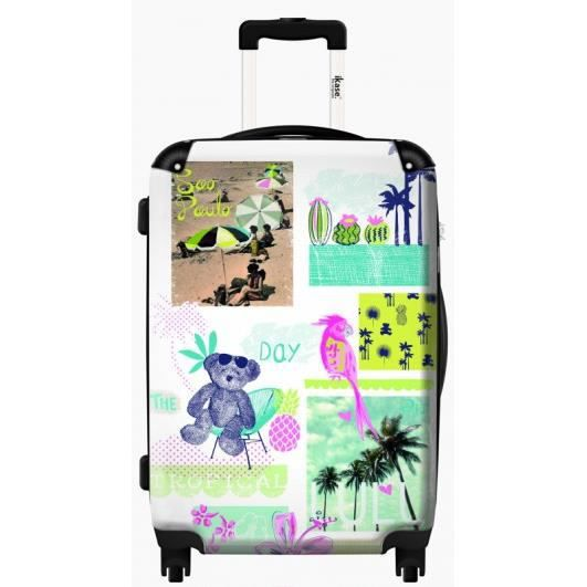 valise personnalis e lulu castagnette tropical day 51 cm taille cabine achat vente valise. Black Bedroom Furniture Sets. Home Design Ideas