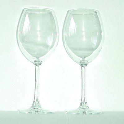 boite 2 verres pied pour bordeaux en verre 51cl achat vente verre eau soda cdiscount. Black Bedroom Furniture Sets. Home Design Ideas