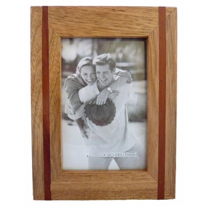 Cadre photo en bois de ch ne pour photo 15x10cm achat vente cadre photo - Cdiscount cadre photo ...