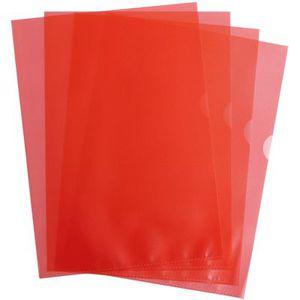 Pochettes coin 9/100 rouge - Boîte de 100