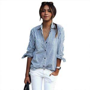 CHEMISE - CHEMISETTE Dames élégantes femmes Turn-down col chemise Casua