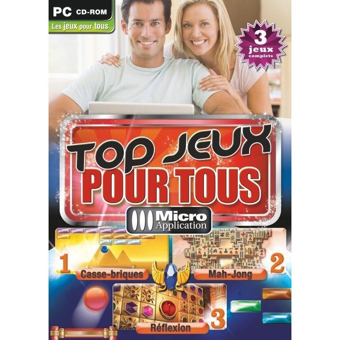top jeux pour tous achat vente jeu pc top jeux pour tous 3 jeux co cdiscount. Black Bedroom Furniture Sets. Home Design Ideas