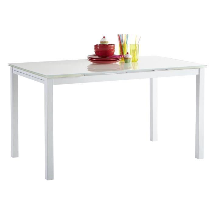 Kiara table de s jour extensible 110 170cm blanc achat - Table de sejour extensible ...