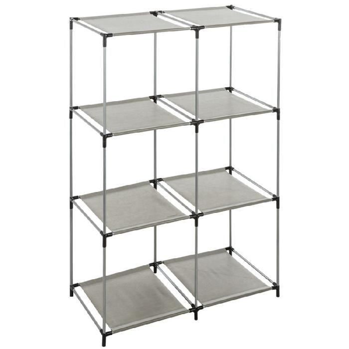Solutions rangement etageres de rangement 8 casiers noir - Etageres casiers rangement ...