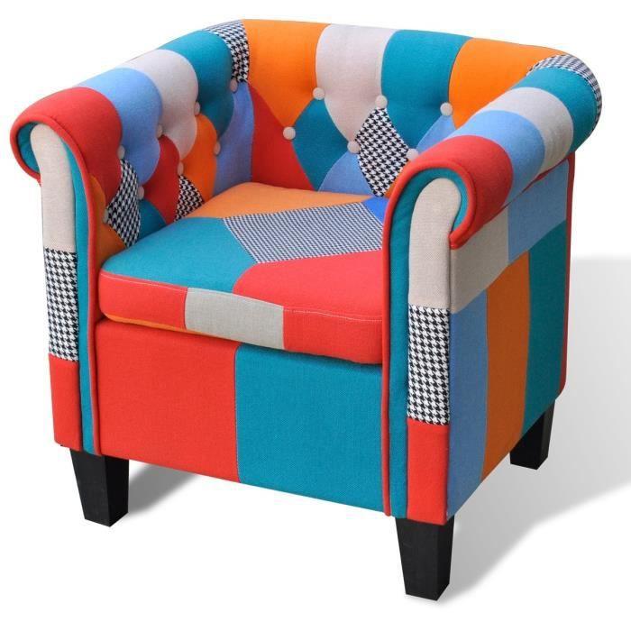 P46 fauteuil tv tissu patchwork achat vente fauteuil cdiscount - Fauteuil tissu patchwork ...