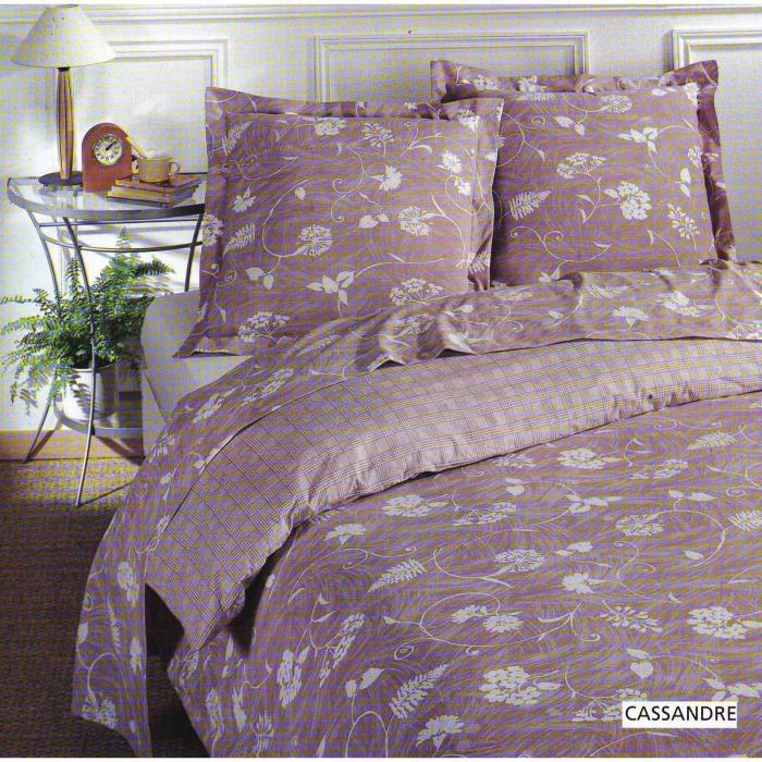 parure housse de couette en 100 coton cassandre 200x200 cm 2 taies d 39 oreiller 65x65 cm. Black Bedroom Furniture Sets. Home Design Ideas