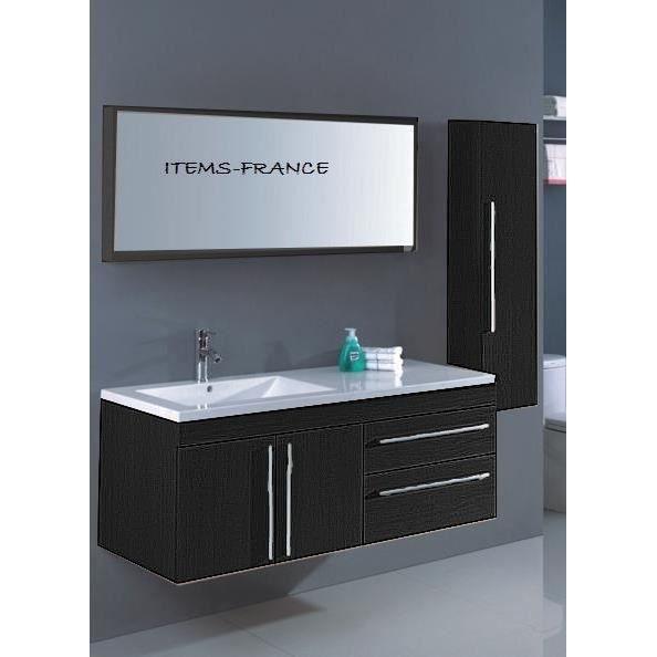 Neoma noir meuble salle de bain contemporain achat for Salle de bain meuble noir