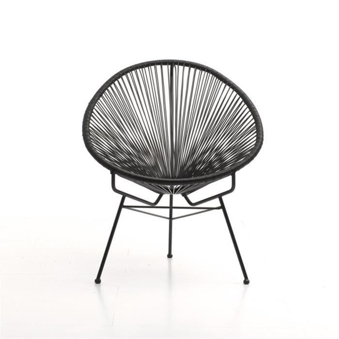 acapulco noir fauteuil design achat vente fauteuil jardin acapulco noir fauteuil de. Black Bedroom Furniture Sets. Home Design Ideas