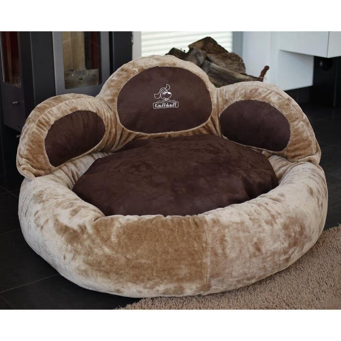 knuffelwuff luena le matelas pour chien patte s m 80cm brun super moelleux achat vente. Black Bedroom Furniture Sets. Home Design Ideas