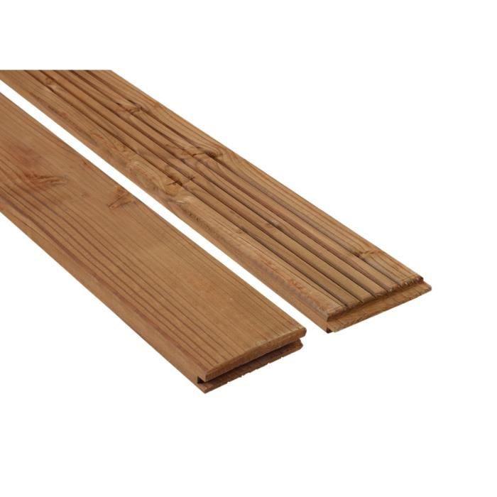 Lames de terrasse lavezzi marron douglas 28 mm achat vente revetement e - Achat lame terrasse bois ...