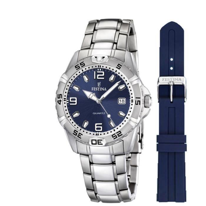 montre pour homme coffret deux bracelets festina achat vente montre montre pour homme. Black Bedroom Furniture Sets. Home Design Ideas