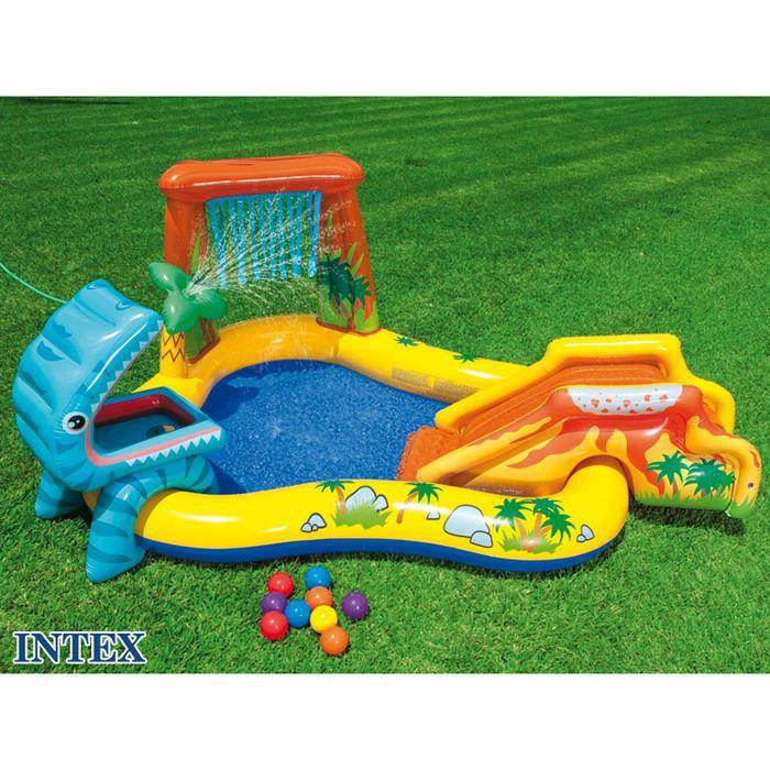 aire de jeux jurassic intex achat vente piscine gonflable aire de jeux jurassic cdiscount. Black Bedroom Furniture Sets. Home Design Ideas