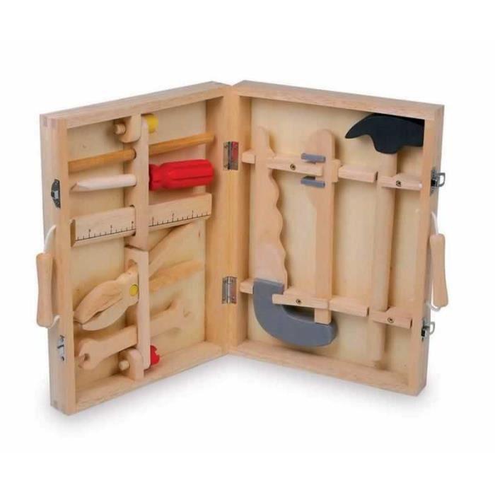 Malette outils bois l 39 artisanat et l 39 industrie - Malette outils enfant ...