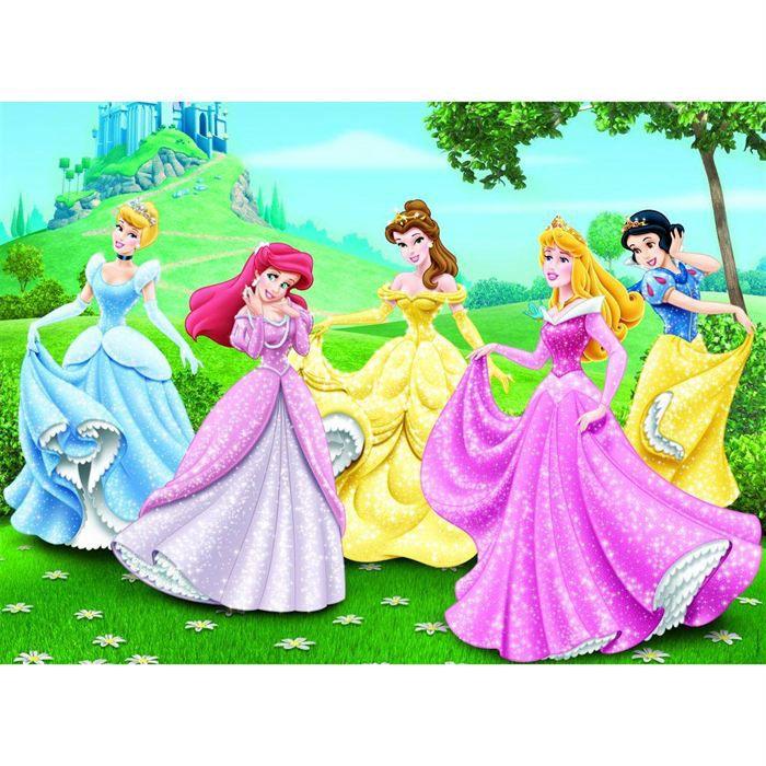 Nathan puzzles puzzle 150 pi ces disney princess achat for Jardin walt disney