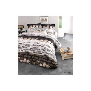 couette imprimee noir et blanc achat vente couette imprimee noir et blanc pas cher soldes. Black Bedroom Furniture Sets. Home Design Ideas