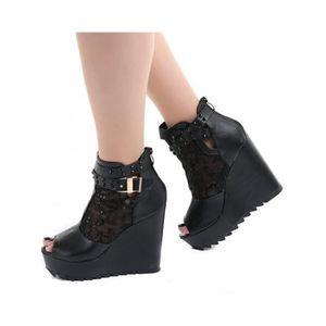 bottines bottes chaussure gothique achat vente pas cher soldes cdiscount. Black Bedroom Furniture Sets. Home Design Ideas