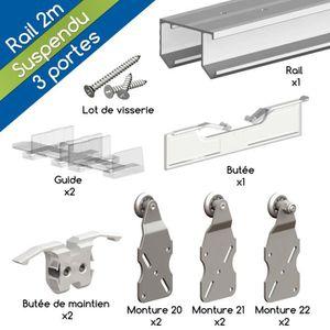 rail pour porte coulissante achat vente rail pour porte coulissante pas cher cdiscount. Black Bedroom Furniture Sets. Home Design Ideas