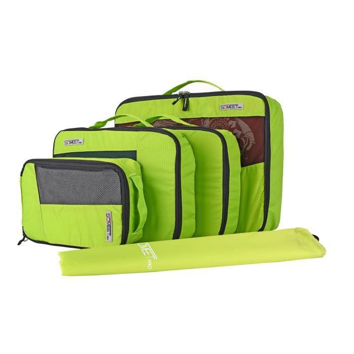 housse sac de rangement vetement pour valise cubes de voyage bagage organisateurs lot de 5. Black Bedroom Furniture Sets. Home Design Ideas