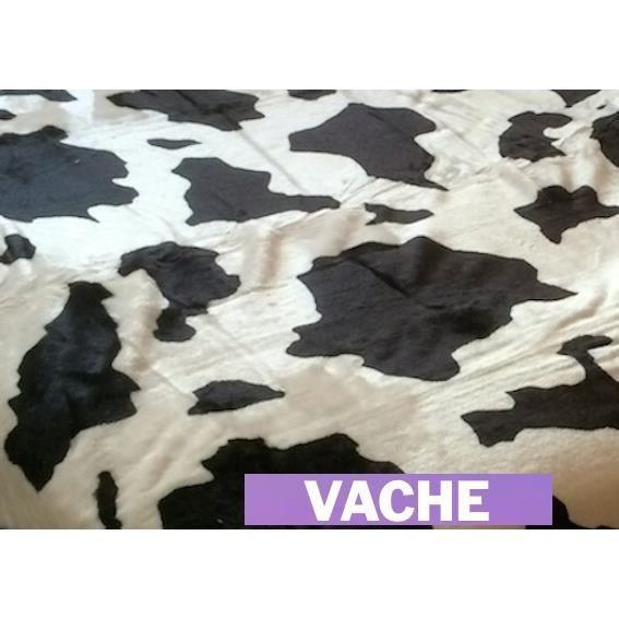 plaid fourrure vache couvre lit xl fausse fourrure vison jet de lit taille 220x240cm achat. Black Bedroom Furniture Sets. Home Design Ideas